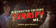 Distracted Drivers Terrify Me campaign beekeeper