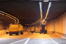 I-10 Deck Park Tunnel LED lights installaiton