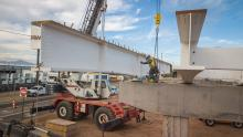 I-17 girder placement at Central Avenue