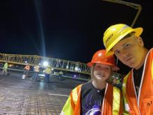 Jeremy and Kailey Moore I-10 Houghton interchange reconstruction deck pour Tucson