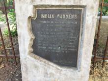 Historical Marker at Indian Gardens