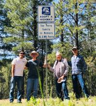 Perry family Adopt a Highway