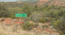 Distance sign highway sign technology measurement Arizona state highway