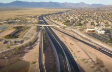 Drone footage of South Mountain Freeway
