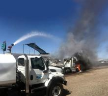 SRP truck puts out fire