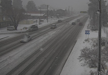 Snow on Milton Avenue in Flagstaff