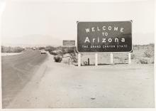 Welcome to Arizona sign SR 95 Parker 1971