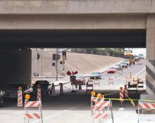 Work zone at Cactus and I-17