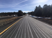White lines on road
