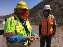 ADOT Geologist James Lemmon and engineer-in-training Ivan Bystrov