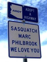 Sign named after the late Marc Philbrook