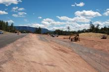 Construction of SR260 in Little Green Valley
