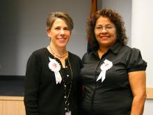 ADOT State Engineer Jennifer Toth and ADOT Human Resources Administrator Nancy Gomez