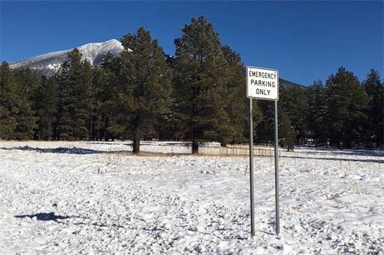 US 180 shoulder sign